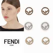 FENDI F IS FENDI Casual Style Blended Fabrics Initial Party Style Brass