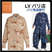 Louis Vuitton MONOGRAM Camouflage Monogram Unisex Long Sleeves Cotton Handmade