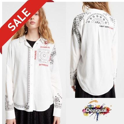 Heart Paisley Casual Style Long Sleeves Medium