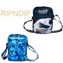 RIPNDIP Casual Style Unisex Street Style Shoulder Bags