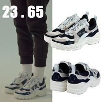 23.65 Unisex Street Style Plain Leather Handmade Sneakers