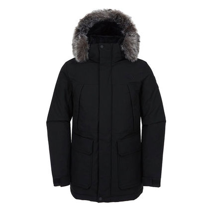 THE NORTH FACE MCMURDO Unisex Plain Long Logo Down Jackets