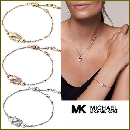 Casual Style Chain Party Style With Jewels Office Style