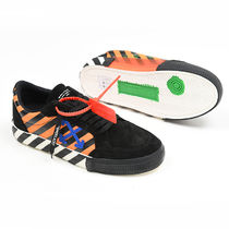 Off-White Street Style Leather Logo Sneakers