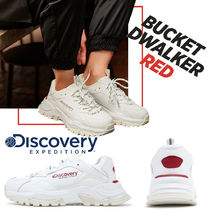 Discovery EXPEDITION Unisex Faux Fur Blended Fabrics Street Style Plain Sneakers