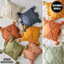 Urban Outfitters Plain Fringes Geometric Patterns Decorative Pillows