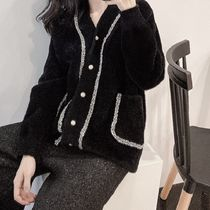 Casual Style Rib Blended Fabrics Street Style Bi-color