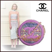 CHANEL Casual Style Chain Plain Party Style Elegant Style Clutches
