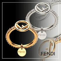 FENDI F IS FENDI Blended Fabrics Initial Party Style With Jewels