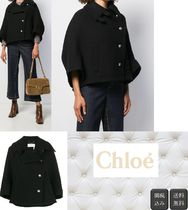 Chloe Casual Style Wool Plain Medium Peacoats