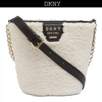 DKNY Casual Style Plain Shoulder Bags