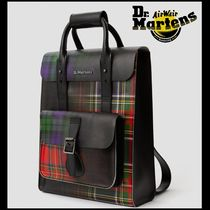 Dr Martens Tartan Casual Style Unisex Street Style A4 2WAY Leather