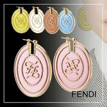 FENDI KARLIGRAPHY Casual Style Blended Fabrics Initial Party Style