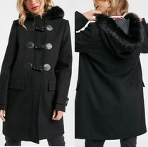 ASOS Casual Style Faux Fur Plain Office Style Duffle Coats