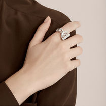 HERMES Casual Style Party Style Silver Elegant Style Rings