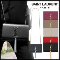 Saint Laurent Casual Style Calfskin Tassel 2WAY Chain Plain Party Style