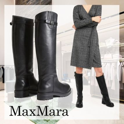 Casual Style Plain Elegant Style Boots Boots