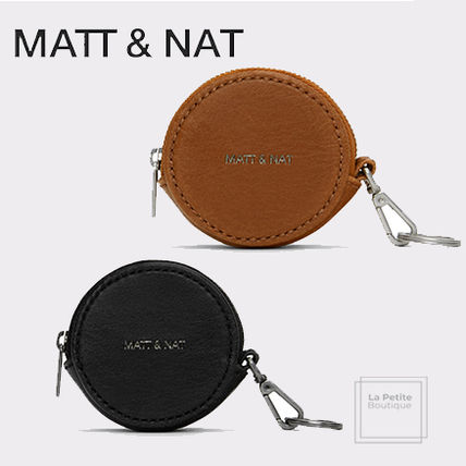 Unisex Plain Logo Coin Cases
