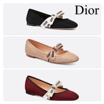 Christian Dior JADIOR Casual Style Plain Office Style Elegant Style Flats