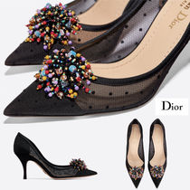 Christian Dior DIOR BLOSSOM Dots Casual Style Blended Fabrics Pin Heels Party Style