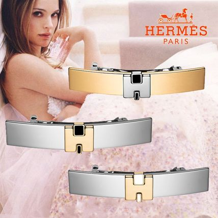 HERMES Barettes Casual Style Party Style Office Style Elegant Style