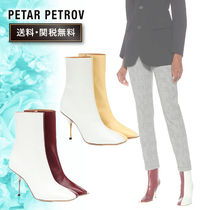 HELMUT LANG Casual Style Bi-color Elegant Style High Heel Boots