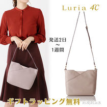 4℃ Plain Leather With Jewels Handbags