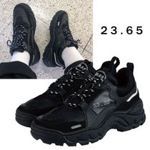 23.65 Unisex Plain Leather Low-Top Sneakers