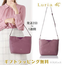 4℃ Plain Leather With Jewels Bold Handbags