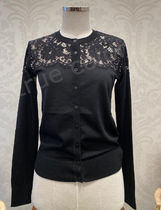 Dolce & Gabbana Short Long Sleeves Plain Lace Elegant Style Cropped