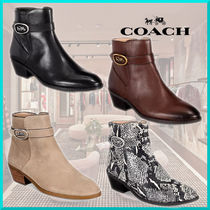 Coach Casual Style Suede Plain Other Animal Patterns Leather
