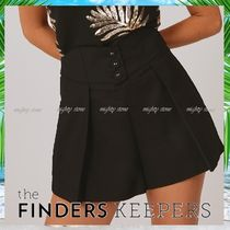 Finders Keepers Short Casual Style Pleated Skirts Plain Cotton Party Style