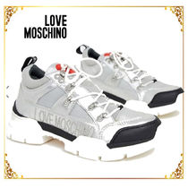 Love Moschino Casual Style Plain Low-Top Sneakers