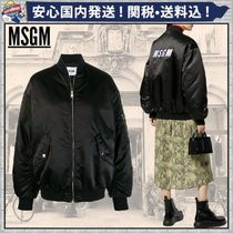 MSGM Casual Style Plain Medium MA-1 Oversized Bomber Jackets