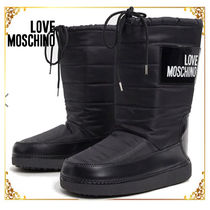 Love Moschino Casual Style Plain Boots Boots