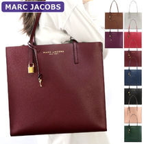MARC JACOBS A4 Plain Leather PVC Clothing Office Style Totes