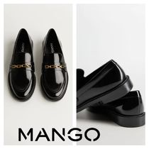 MANGO Square Toe Chain Loafer & Moccasin Shoes
