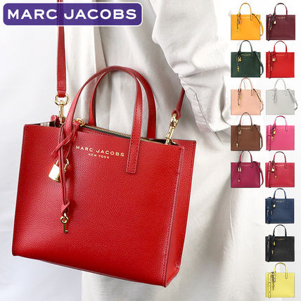 MARC JACOBS 2WAY Plain Leather PVC Clothing Crossbody Handbags