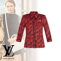 Louis Vuitton Casual Style Silk Nylon Long Sleeves Medium Shirts & Blouses