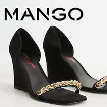 MANGO Square Toe Heeled Sandals