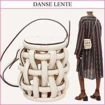 DANSE LENTE Casual Style Street Style Plain Leather Party Style