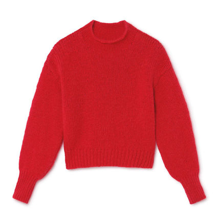 Casual Style Wool Blended Fabrics Long Sleeves Plain