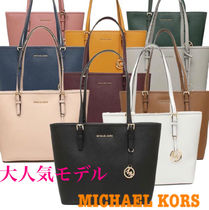 Michael Kors CARY Casual Style Unisex A4 Leather Totes