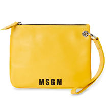 MSGM Casual Style Unisex 2WAY Plain Leather Party Style