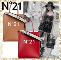 N21 numero ventuno Casual Style Unisex Faux Fur Street Style 2WAY Totes