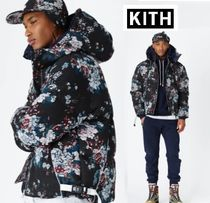 KITH NYC Flower Patterns Unisex Street Style Down Jackets