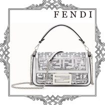 FENDI Monogram Casual Style Collaboration 2WAY Chain Leather