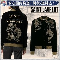 Saint Laurent Flower Patterns Casual Style Street Style Medium