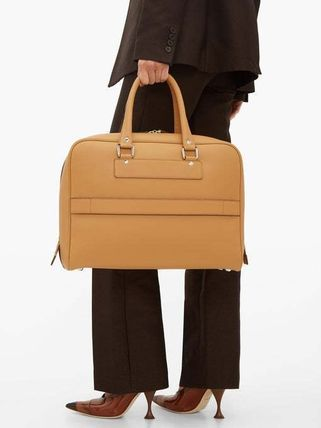 Casual Style Street Style 2WAY Plain Leather Office Style