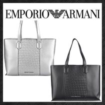 EMPORIO ARMANI Casual Style Faux Fur Plain Office Style Elegant Style Totes